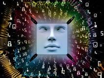 Verarbeitung des Supermenschen AI Stockfotografie