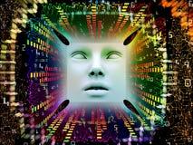 Verarbeitung des Supermenschen AI Stockbild