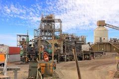 Verarbeitungsanlage der Goldförderung Stockfoto