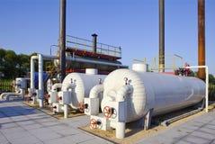 Verarbeitungsanlage des Öls und des Gases stockfoto