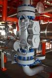 Verarbeitungsanlage des Öls und des Gases mit Ventilen lizenzfreies stockfoto