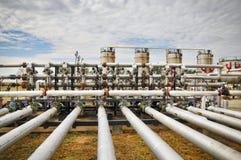 Verarbeitungsanlage des Schmieröls und des Gases Lizenzfreies Stockfoto