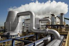 Verarbeitungsanlage des Zuckerrohrs industrielle Mühlin Brasilien Stockbild