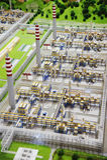 Verarbeitungsanlagebaumuster des Sinopec Gruppen-Erdgases Stockbilder