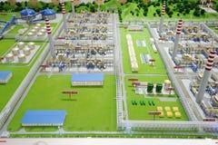 Verarbeitungsanlagebaumuster des Sinopec Gruppen-Erdgases Stockfoto