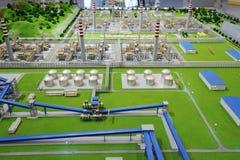 Verarbeitungsanlagebaumuster des Sinopec Gruppen-Erdgases Stockfotografie