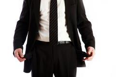 Verarmt, bankrott und hilflos stockfoto