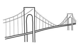 Verazzano-Narrows bridge drawing Royalty Free Stock Photo