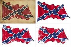 Verbündete rebellische historische Markierungsfahne Stockbilder