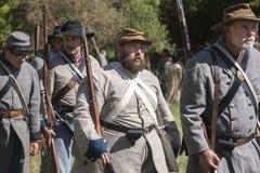 Verbündete reenactors auf dem Marsch Stockfotos