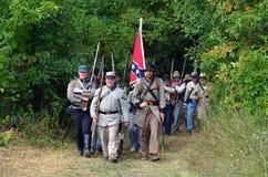 Verbündete Truppen auf dem Marsch Stockfotografie