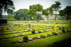 Verbündeter Militärfriedhof Stockfotografie