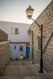 Verbündeter mit verschiedenen Zeichen, in Safed ( Tzfat) Stockfotografie