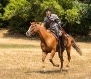 Verbündeter Soldat zu Pferd lizenzfreies stockfoto