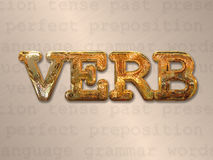 Verb action concept Stock Image
