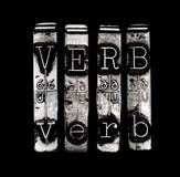 Verb concept stock images