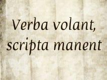 Verba volant, scripta manent Royaltyfria Foton