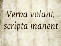 Verba volant, scripta manent Royalty Free Stock Photos