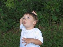 Verbaasde baby Stock Foto's