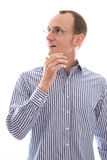 Verbaasde jonge zakenman Stock Foto