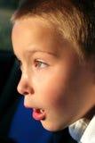 Verbaasde jongen Stock Foto's