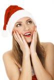 Verbaasde Kerstman Stock Foto