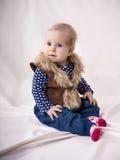 Verbaasde mooie baby Stock Foto