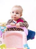 Verbaasde mooie baby Stock Afbeelding