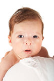 Verbaasde pasgeboren babyjongen Royalty-vrije Stock Foto's