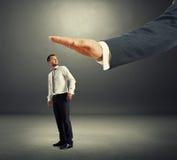 Verbaasde zakenman die zich omdraaien Stock Foto