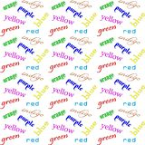Verbal color interference vector illustration