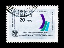 Verband der internationalen Telekommunikation, serie, circa 1978 stockbild