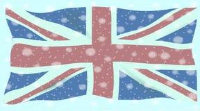Verband Jack Flag Snowflakes Stockfotografie