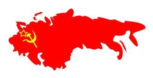 Verband von sowjetischen Sozialisten-Republiken lizenzfreie abbildung
