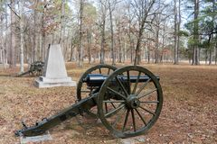 Verbands-Artillerie auf Chickamauga-Schlachtfeld stockfotografie