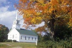 Verbands-Bethaus in Burke Hollow, VT im Herbst lizenzfreies stockfoto