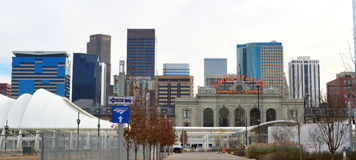 Verbands-Station Denver Skyline Stockfoto