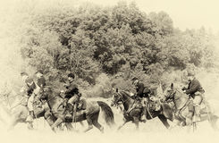 Verbandskavallerieweinlese Stockbilder