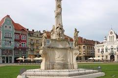 Verbandsquadrat Timisoara Statue der Heiligen Dreifaltigkeit Lizenzfreies Stockfoto