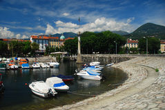 Verbania Intra, lake Maggiore, Italy Royalty Free Stock Photography