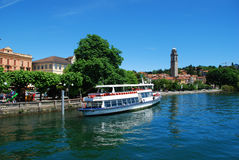 Verbania Pallanza, lake maggiore, Italy Royalty Free Stock Photo
