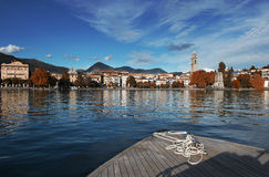 Verbania. The town of Verbania on Lake Maggiore Stock Photos