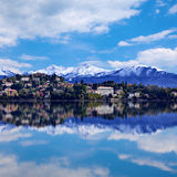 Verbania town on the Lake Maggiore Royalty Free Stock Photos