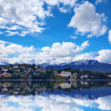 Verbania town on the Lake Maggiore Royalty Free Stock Photography