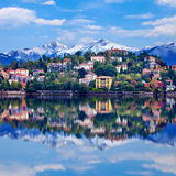 Verbania town on the Lake Maggiore Stock Photos
