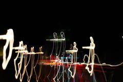 Verbazend abstract straatlantaarnsbehang Royalty-vrije Stock Foto's