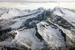 Verbazend berglandschap van Hintertux, Oostenrijk Stock Afbeeldingen