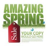 Verbazend de lenteverkoop marketing malplaatje Stock Afbeelding