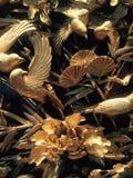 Verbazend, de uitstekende woodcarving werken stock foto