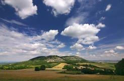 Verbazend de zomerplatteland royalty-vrije stock foto